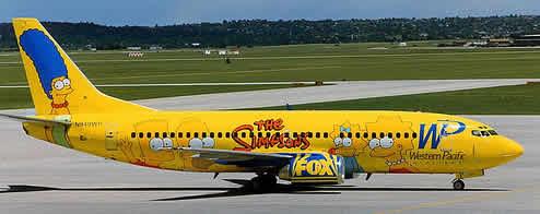 avion des simpson